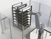Industrieroboter für Wurstproduktion