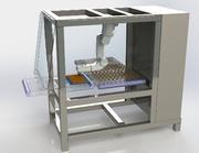 Roboter für Separieren von Schokoladepralinen nach dem Schneiden